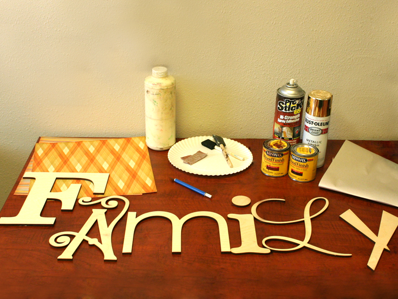 How To Make Quot Family Quot Wood Letters Diy