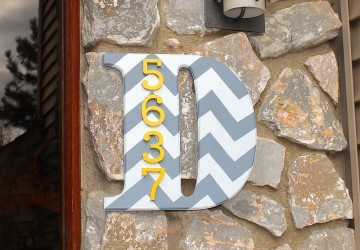 Chevron House Number Monogram | CraftCuts.com