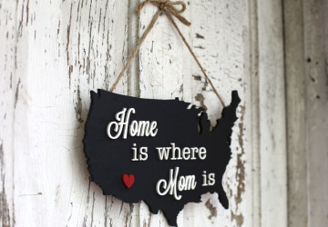 Mother's Day Map Plaque