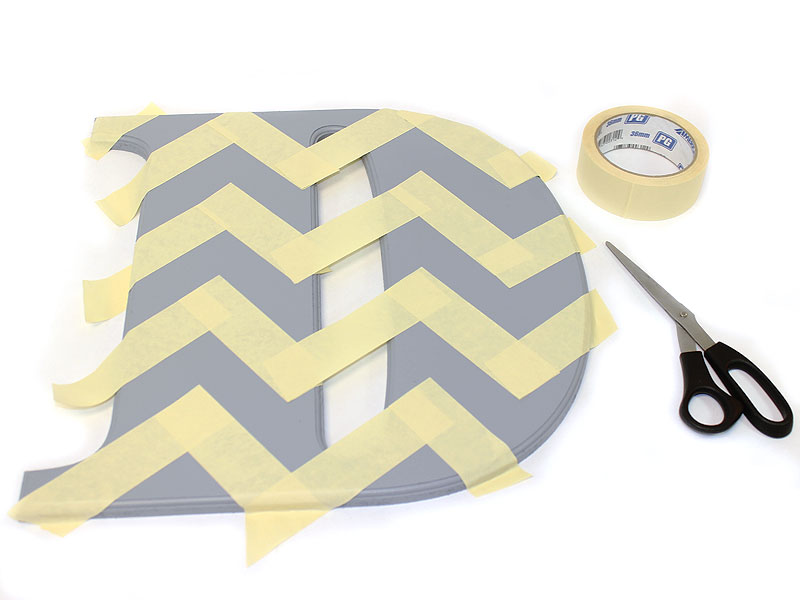 How To Make A House Number Monogram DIY Craftcuts Community Inspiration How To Paint A Chevron Pattern