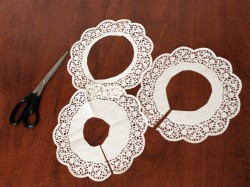 Step 4: Cut the Doilies for the Flowers