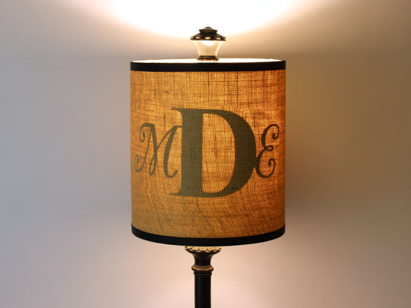 How to Create a Monogram Lamp | Craftcuts.