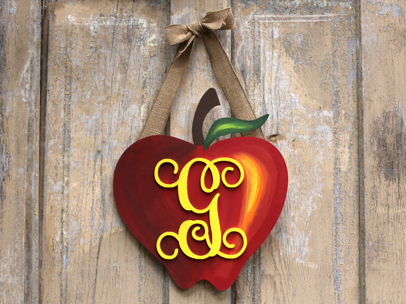 Monogram Apple Wreath by Craft Cuts