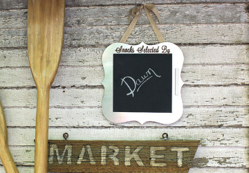How to Make a Custom Chalkboard Sign   CraftCuts.com