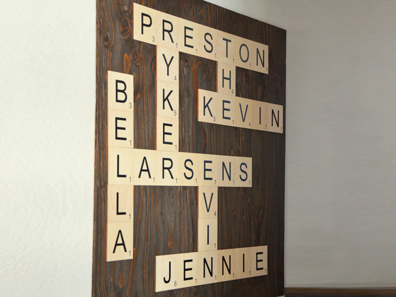 Merveilleux Craft O Maniacu0027s Scrabble Wall Art DIY | Hang | CraftCuts.com