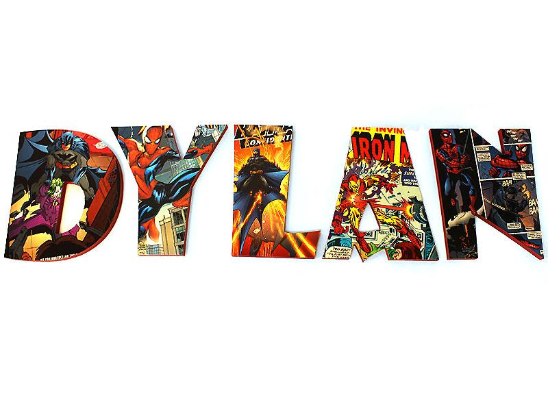 Diy Comic Book Letters Custom Wood Letters Comics