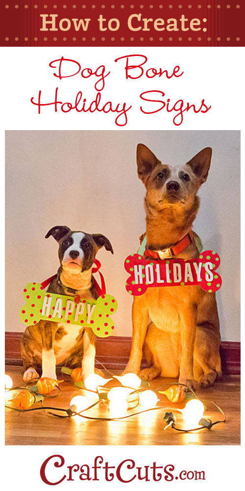 Create christmas dog bone photo props for Dog bone ornaments craft