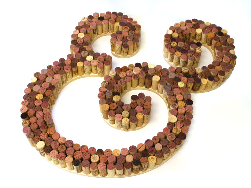 Wine Cork Letter Use recycled wine