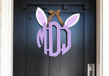Easter Bunny Monogram Wreath | CraftCuts.com
