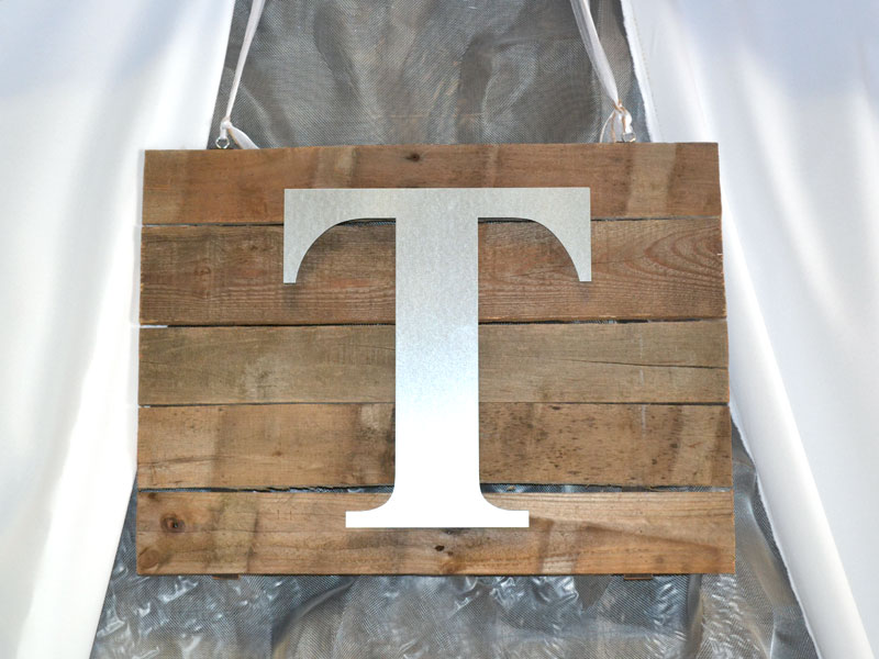 create a rustic wall plaque using metal craft letters metal craft letter on rustic board