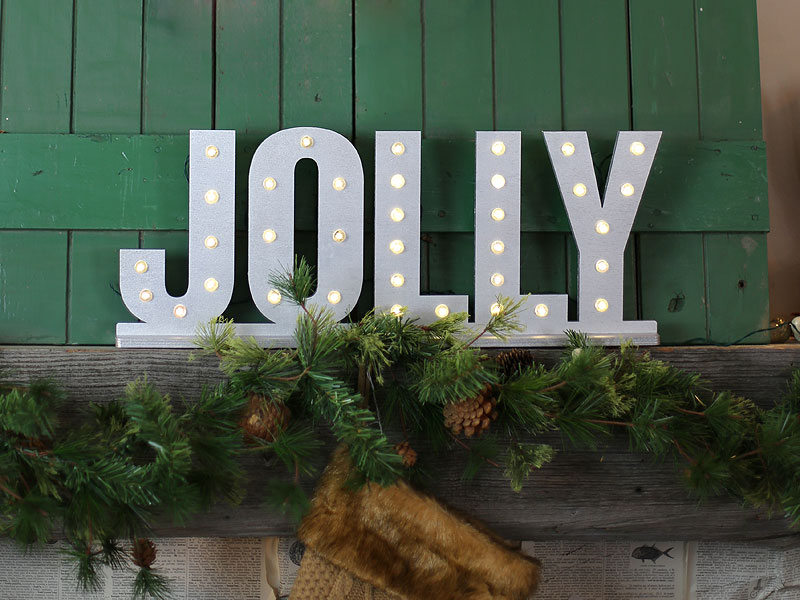 How To Create Festive Lighted Letters Diy