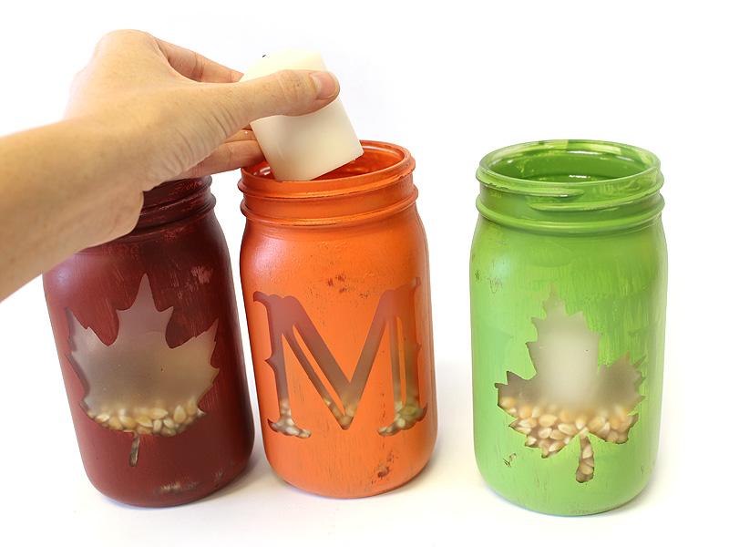 how to create fall monogram mason jar candles diy