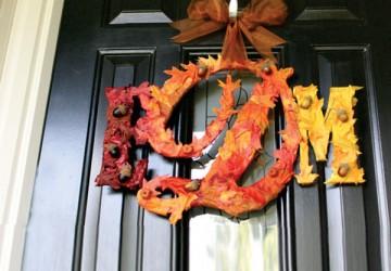 Leafy Fall Monogram Wreath   CraftCuts.com