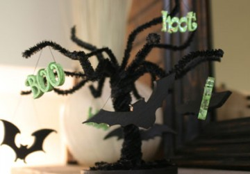 How to Create a Mini Halloween Tree   CraftCuts.com