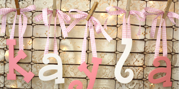 How To Add Ribbon Hang Wood Letters Bows Baseline Aligned