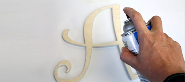 painting laser cut wood letters a light color takes a few more steps. Black Bedroom Furniture Sets. Home Design Ideas