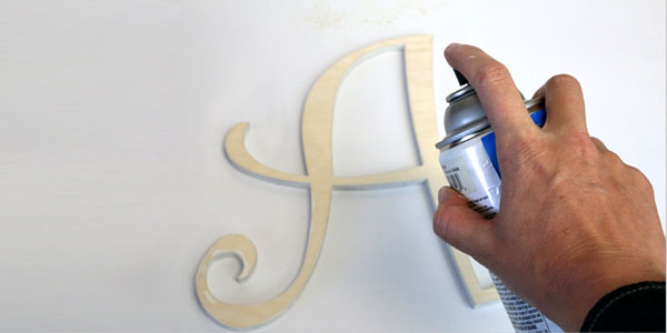 how to spray paint wood letters craftcutscom