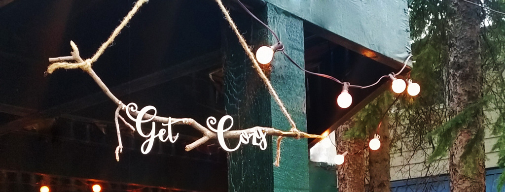 Get Cozy Rustic Sign