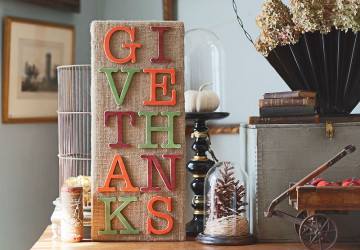 Rustic Give Thanks Sign | Thanksgiving Sign Craft Project | CraftCuts.com