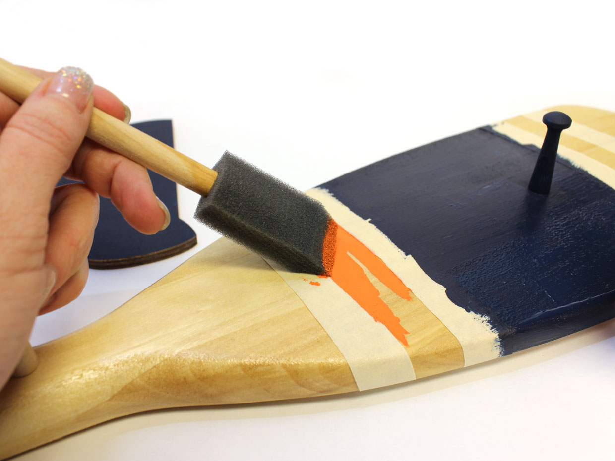 Hanging Name Paddle - Wood Letters with a Boat Oar! - Craftcuts.com