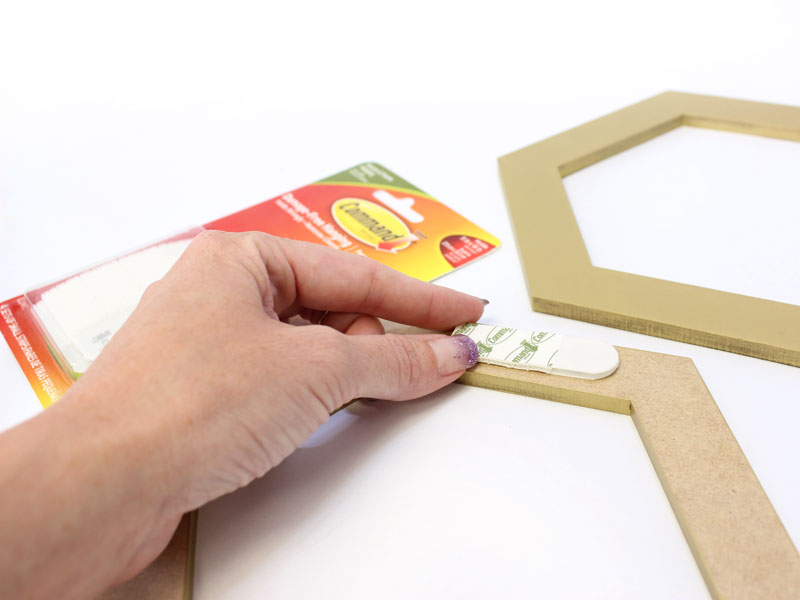 Hexagon Wall Art Diy Wood Hexagons Craftcuts Com
