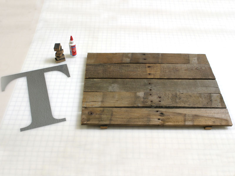 create a rustic wall plaque using metal craft letters materials for attaching the letter to