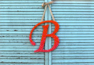 Ombre Jelly Bean Monogram Wreath | Easter Wreath | CraftCuts.com