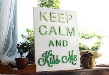 Kiss Me Irish St. Patrick's Day Canvas | CraftCuts.com