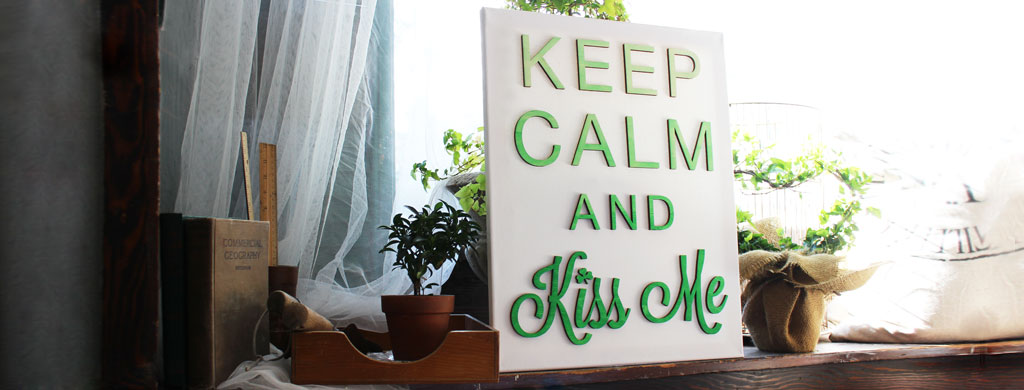 Kiss Me St. Patrick's Day Canvas   CraftCuts.com