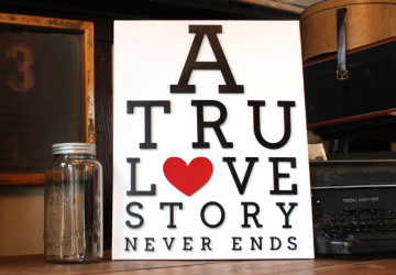 Love Story Canvas | Valentine's Day Art | CraftCuts.com