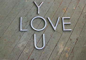 LOVE YOU Faux Metal Letters with Antique Finish | CraftCuts.com