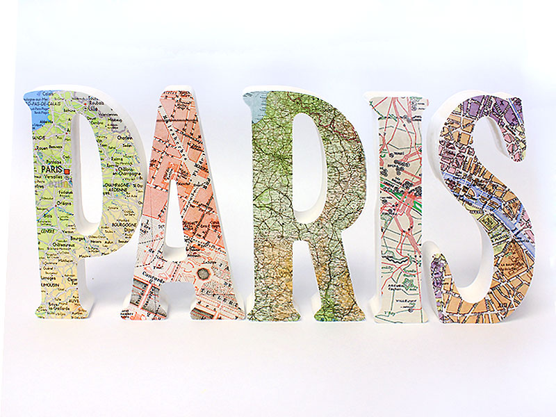 How to Make Map Covered Wood Letters