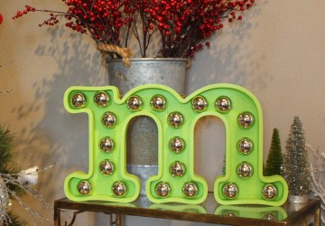 Christmas Ornament Marquee Letter | CraftCuts.com
