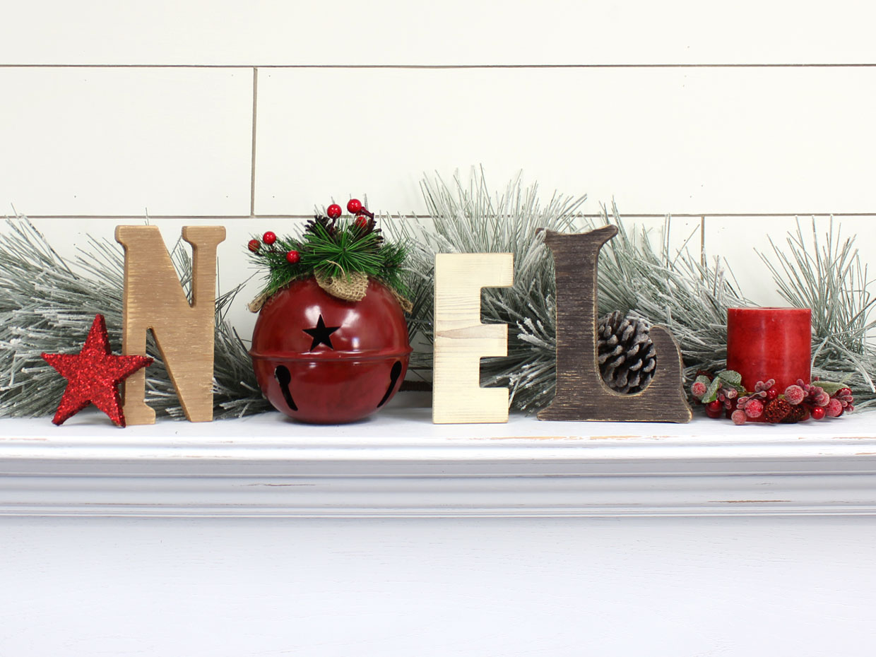Rustic Cedar Noel Letters With Jingle Bell O Craftcuts Community