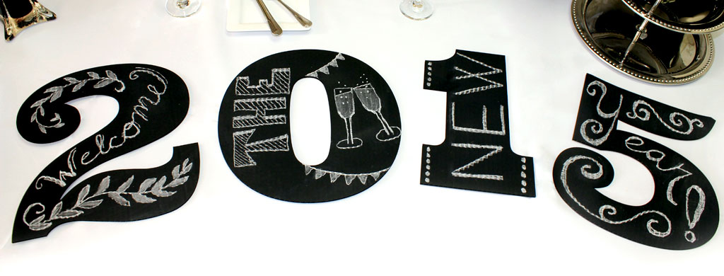 New Year's Chalkboard Numbers | CraftCuts.com