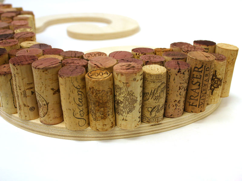 wine cork letter over craftcutscom