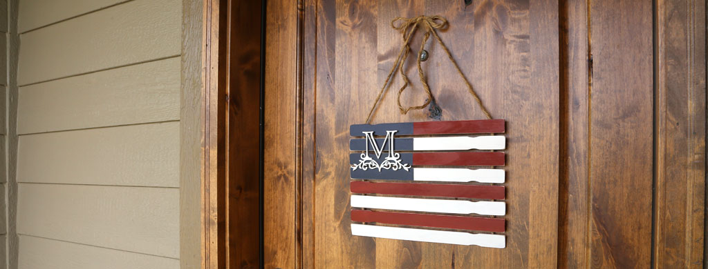 How To Make A Monogram Paint Stick Flag Diy Rustic