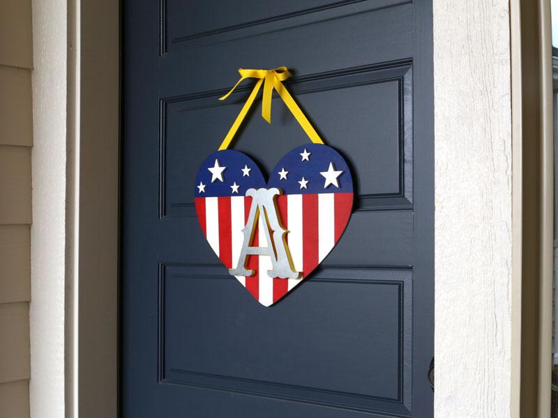 How To Make A Patriotic Monogram Door Hanger Diy