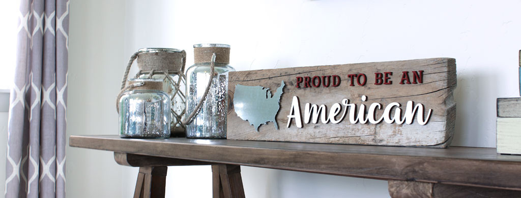 Reclaimed Wood American Sign