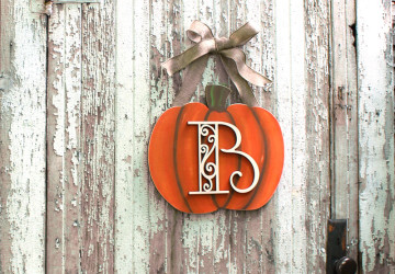 Fall Pumpkin Monogram