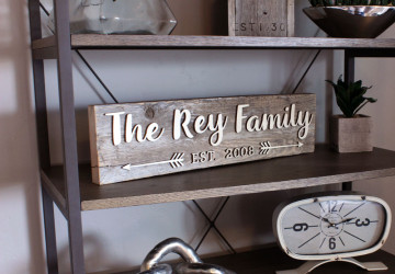 Wedding Sign | Anniversary Sign | Family Name Sign