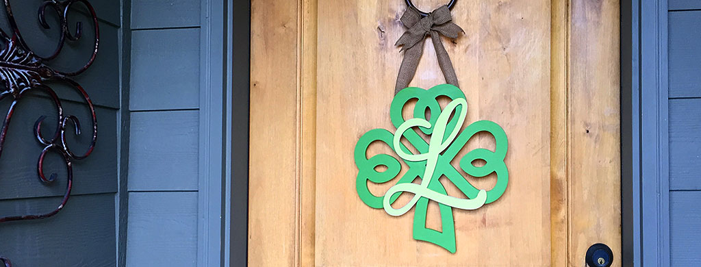 Create a Shamrock Monogram Wreath | St. Patrick's Day Wreath | CraftCuts.com