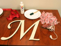 How to Create a Peppermint Candy Monogram Wreath | start-3 | CraftCuts.com