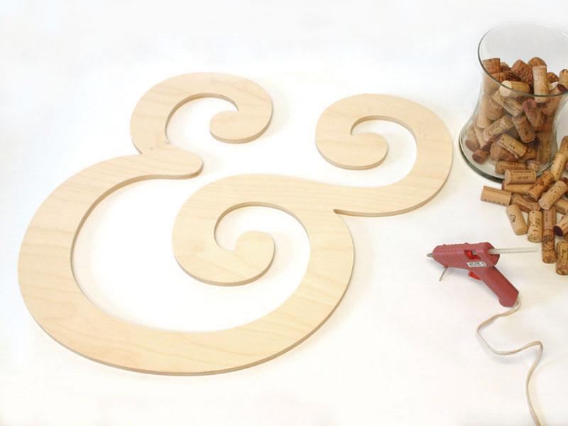 Wine Cork Letter Materials for Wine