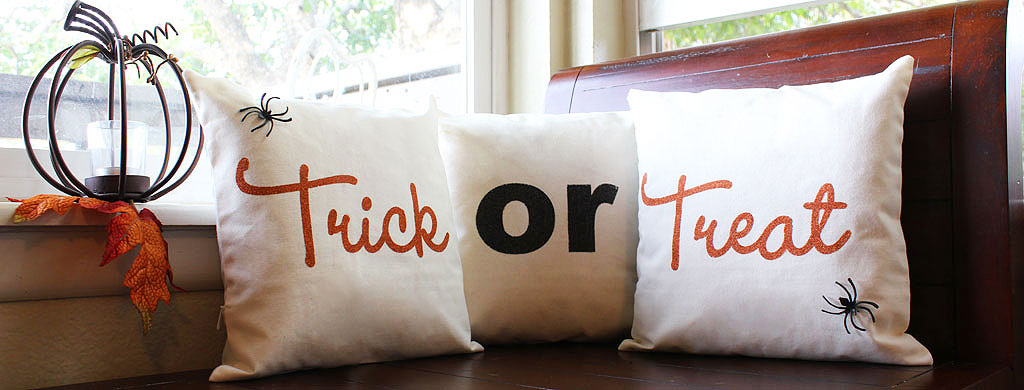 Trick or Treat Halloween Pillows | CraftCuts.com
