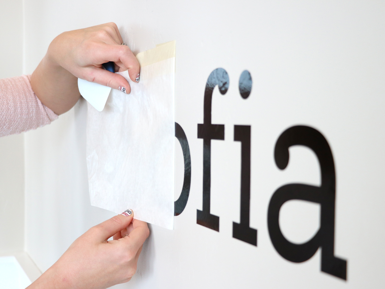 Vinyl wall letters remove transfer tape craftcuts com