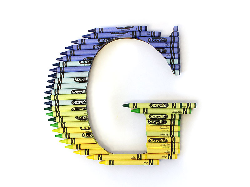 how to create an ombre crayon letter i started with yellow crayons transitioned to