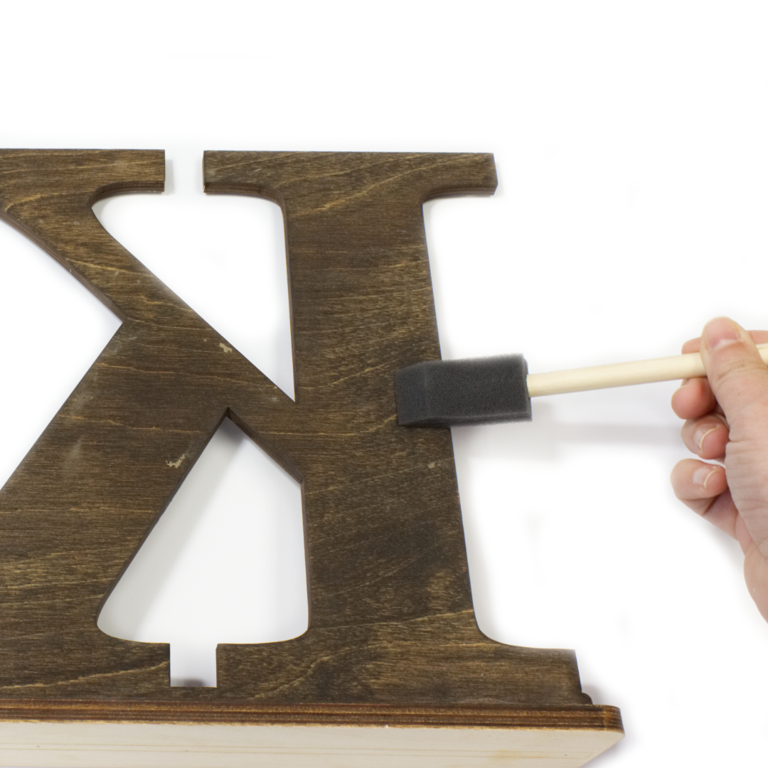 DIY Stained Greek Letters with Mud Cloth Pattern   CraftCuts com