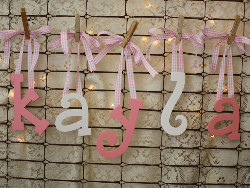 Letters To Hang On Wall how to add ribbon to wood letters | craftcuts