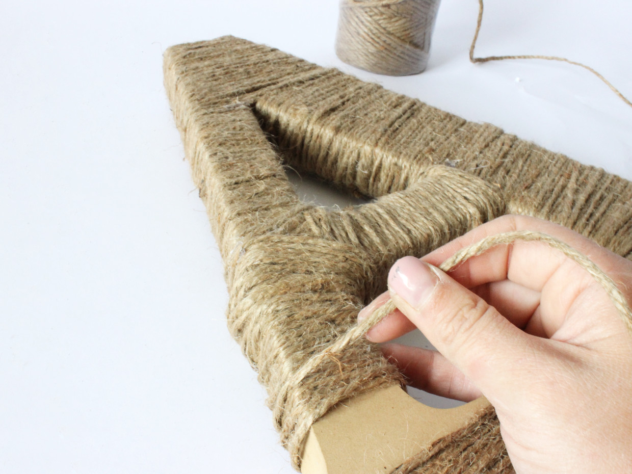 How to Make a Twine Wrapped Wood Letter | Craftcuts.com